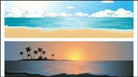 Hermosos paisajes costeros 02 - vector