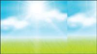 Vecteur mat��riel herbe ciel