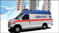 120 Krankenwagen 02 - Vektor Material