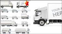 Vector colecci¨®n de material de transporte