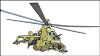 Helic¨®pteros de combate - Doe - Vector