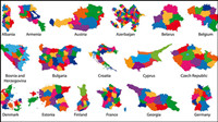 Colorful mat��riau carte vectorielle silhouette -2
