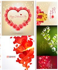 Schöne Valentinstag Vector Material
