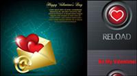 Valentinstag romantische Elemente - Vektor-Material