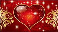 Saint-Valentin mat��riels superbe vecteur de tendance