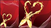 Vecteur de champagne en forme de coeur -4