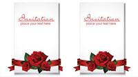 Romantische Hochzeit Einladungen - Vektor