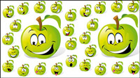 Cartoon fruit expression 01 - Vector