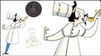 Personnages de dessins anim��s Chef 07 - mat��riel vecteur