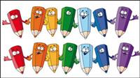 Crayons de dessin anim�� 02 - mat��riel vecteur