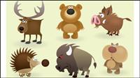Los animales de dibujos animados de la imagen - vector
