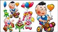 Cartoon Babynahrung Spielzeuge 01 - Vektor