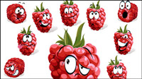 Cartoon fruit expression 04 - vector