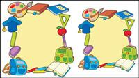 Cartoon Schulbedarf 05 - Vektor