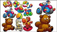 Cartoon Babynahrung Spielzeuge 03 - Vektor