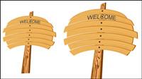 Panneau de bois de bande dessin��e 02 - vecteur