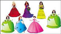 Belle princesse 01 - vecteur