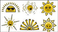 Cartoon image du soleil 01 - vecteur