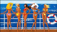 Bikini girl 03 - vecteur