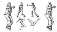 Tanzen Zahlen Vektor Material