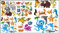 Cute Cartoon-Tiere - Vektor