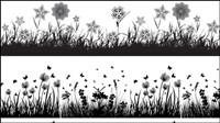 Flora silhouette mat��riel vecteur