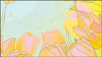 Pintado a mano tulipanes vectorial -5