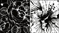 Mat��riel vecteur Imprimer fleurs -2