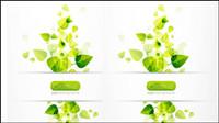 Fr��hling gr��ne Blätter 04 - Vektor Material