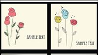 Beau mat��riel vecteur fleurs -1