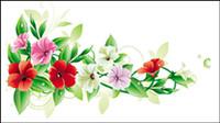 Belles fleurs - vecteur 01