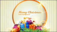 Brillant vecteur de Noël coffret cadeau - 05
