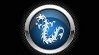 Chinese dragon high light icon - vector