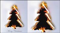 Llama ardiente efecto de papel 01 - vector de material