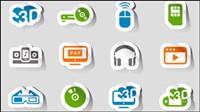 Empfindliche elektronische Produkte Aufkleber 03 - Vektor