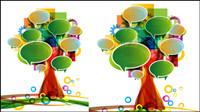 Dialogfeld von großen Bäumen 01 gemacht - Vektor Material