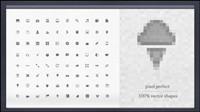 Exquisite icône PNG-vecteur mat��riel