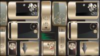 Raffin�� mat��riau m��tallique icône vecteur -01