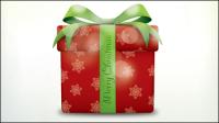 Icônes de Noël boîte cadeau - vecteur mat��riel