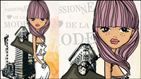 Shopping Girl Fashion 03 - mat��riel vecteur