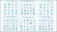L��nea iconos del arte - material de vectores