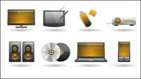 Technologie Produits icône 01 - mat��riel vecteur