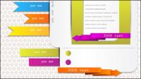 Schöne Karten Etiketten - Vektor Material