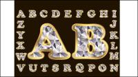 Diamant lettres 01 - mat��riel vecteur