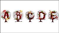 Noël Arbre lettres 03 - Vecteur