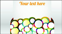 Style bague -3 texte template vecteur