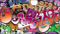 Graffiti Polices magnifiquement conçu 05 - mat��riel vecteur