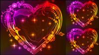 Valentine wunderschönen Licht 05 - Vektor
