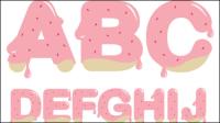 Strawberry jam alfabeto - material de vectores