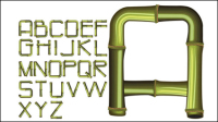 Bamboo lettres Creative 02 - mat��riel vecteur